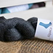 Alpaca Sock Yarn Charcoal