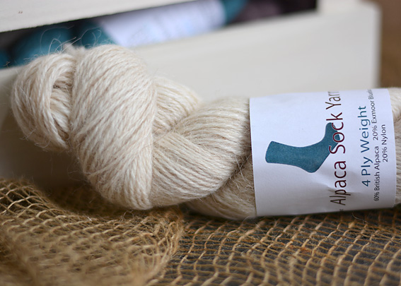 Alpaca Sock Yarn Oatmeal