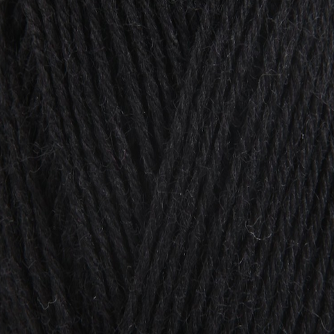 King Cole Zig Zag 4 Ply Sock Yarn Black 754