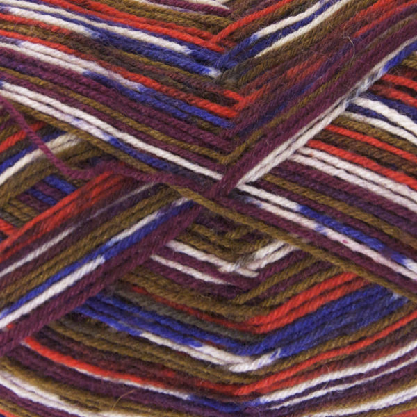 King Cole Zig Zag 4 Ply Sock Yarn chestnut-1622
