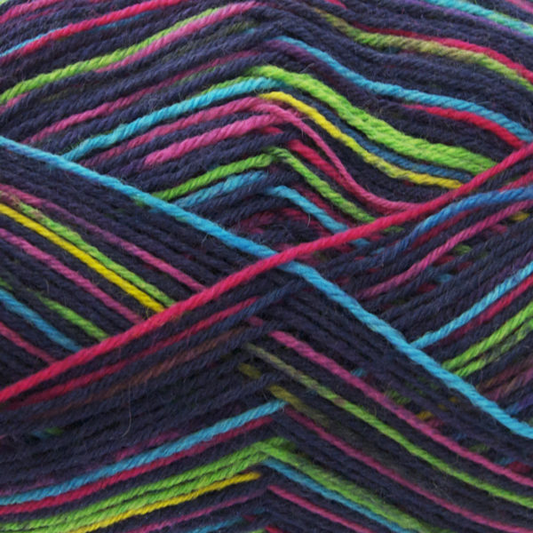 King Cole Zig Zag 4 Ply Sock Yarn marine-1625