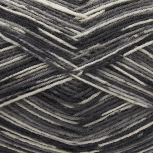 King Cole Zig Zag 4 Ply Sock Yarn smokey-1623