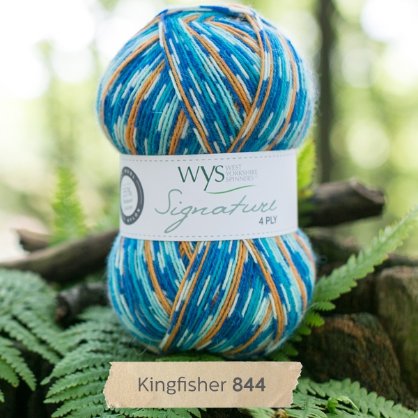 West Yorkshire Spinners sock yarn Kingfisher