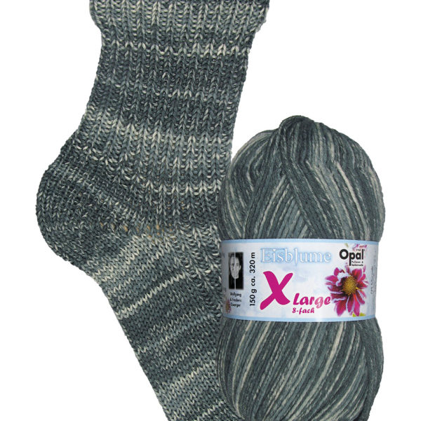 Opal Eisblume 8 Ply Sock Yarn 9225 winter-sleep