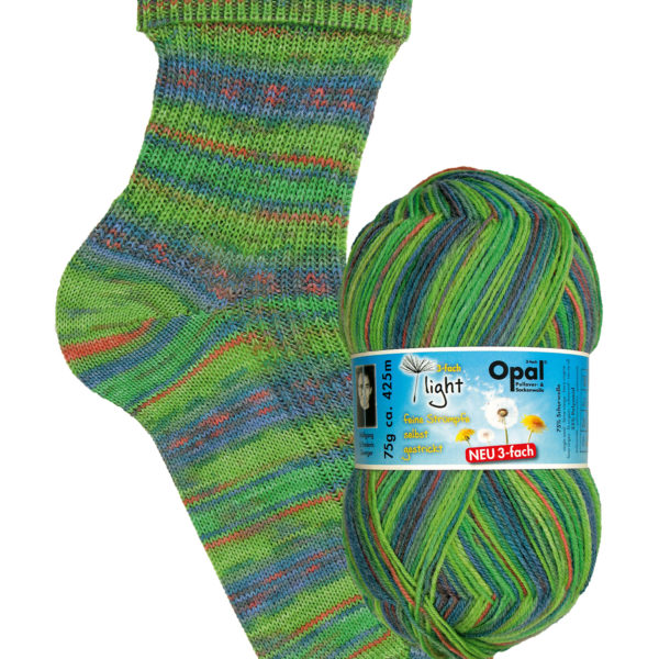 Opal Light 3 Ply Sock Yarn 9355 breeze