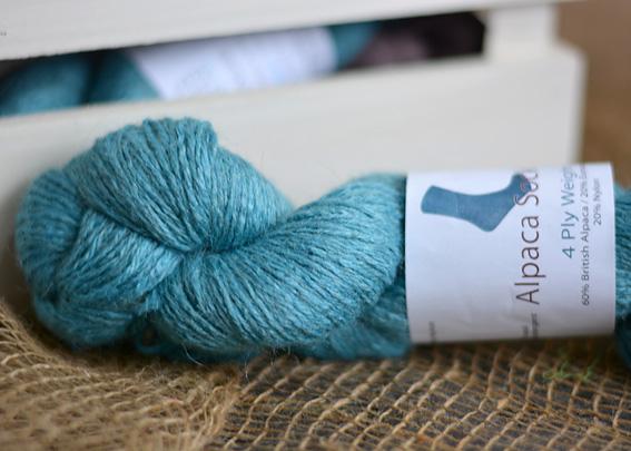 Alpaca Sock Yarn Sapphire