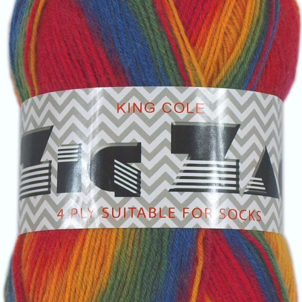 King Cole Zig Zag 4 Ply Sock Yarn