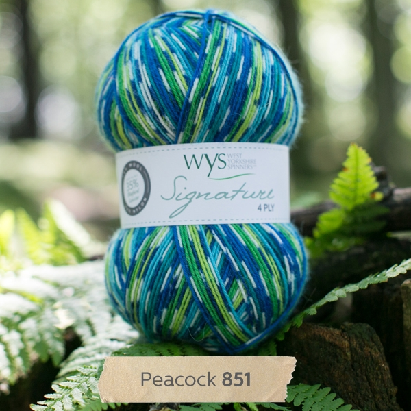 West Yorkshire Spinners sock yarn Peacock
