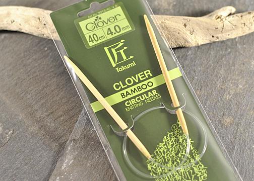 Clover 40cm-Bamboo-Circular-Needles