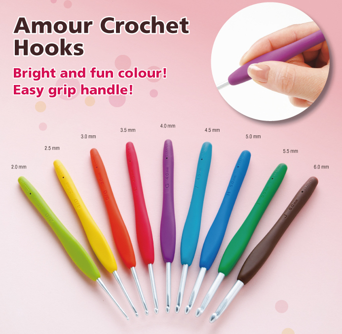 Clover Amour Crochet Hooks The Sock Yarn Shop
