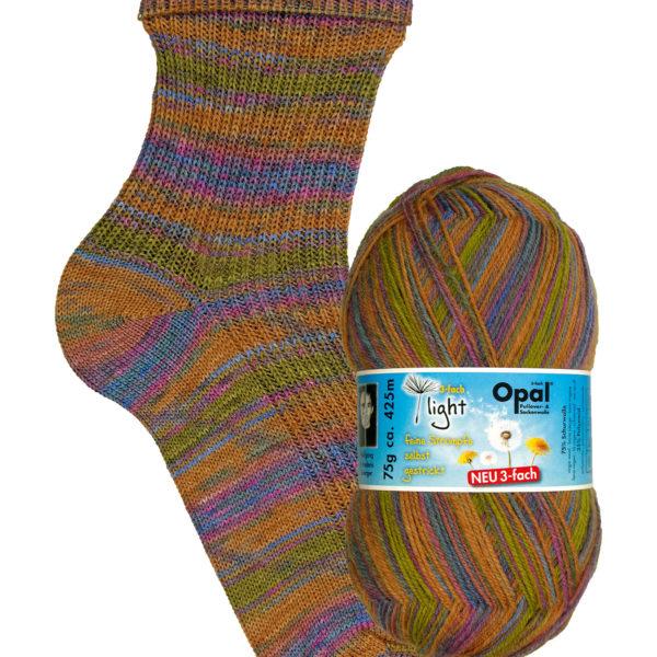 Opal Light 3 Ply Sock Yarn 9352 ease