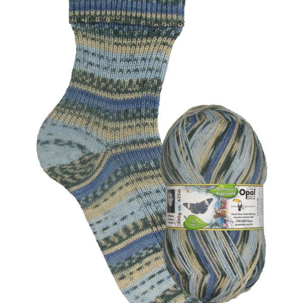Opal Rainforest sock yarn butterfly_9457