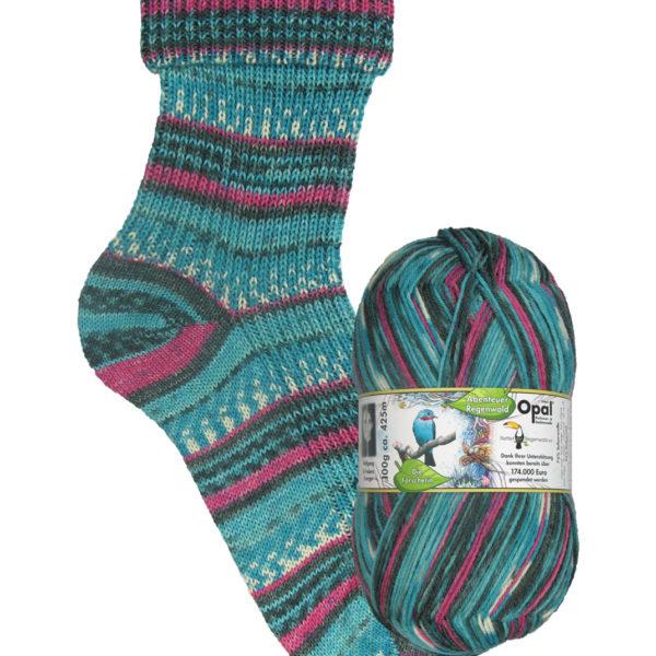 Opal Rainforest sock yarn spangled cotinga_9451