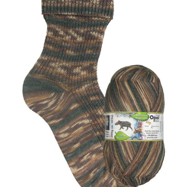 Opal Rainforest sock yarn wild boar_9452