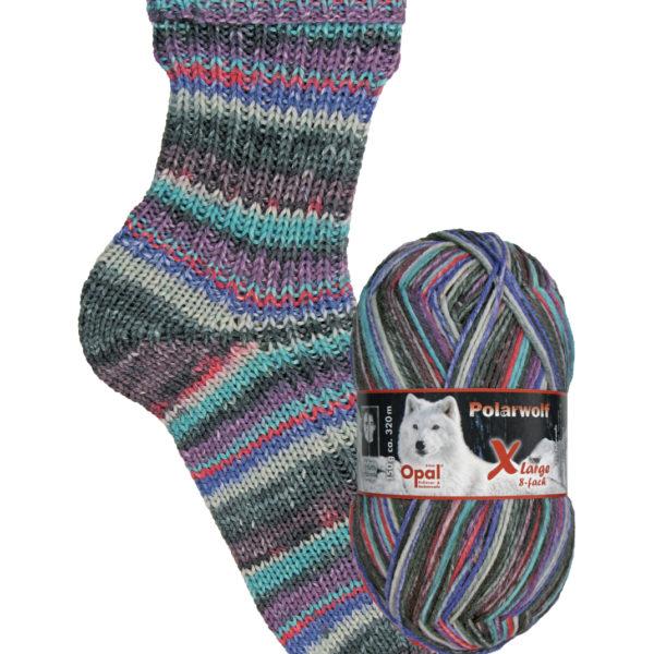 9431 icy wind Opal polar wolf 8 ply sock yarn