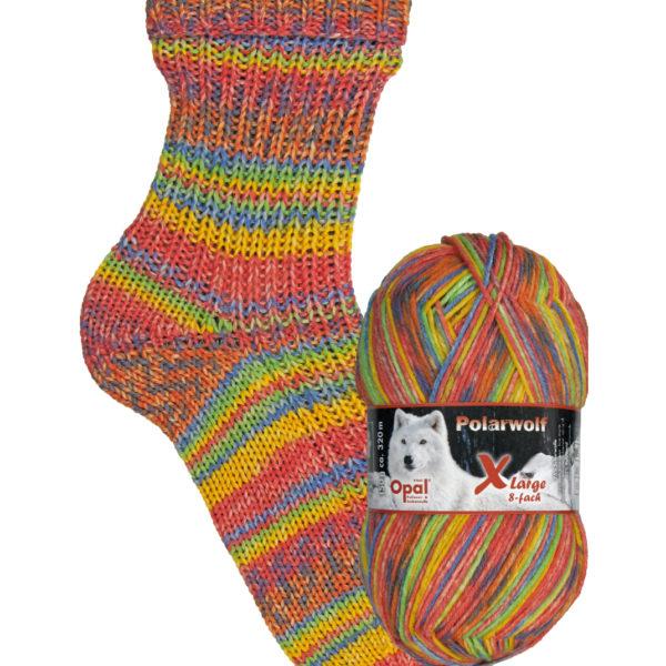 9433 shining snow Opal polar wolf 8 ply sock yarn
