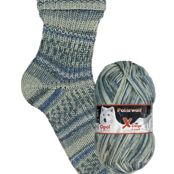 9434 frosty night Opal polar wolf 8 ply sock yarn