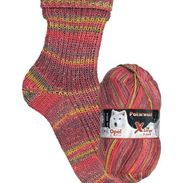 9435 biting cold Opal polar wolf 8 ply sock yarn