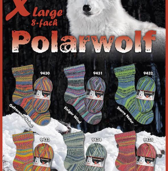 Opal polar wolf 8 ply sock yarn
